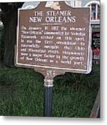 La-001 The Steamer New Orleans Metal Print