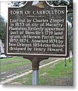La-007 Town Of Carrollton Metal Print