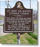 La-024 St John The Baptist Catholic Church 1770 Metal Print