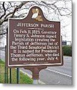 La-040 Jefferson Parish Metal Print