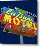La Bank Motel Metal Print
