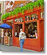 La Cage Aux Sports In Old Montreal-quebec Metal Print