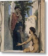 La Charite Romaine Metal Print by William Bouguereau