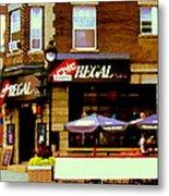 La Chic Regal Taverne Au Coin Rue Centre Et Charlevoix Pointe St Charles Scene De Rue Carole Spandau Metal Print
