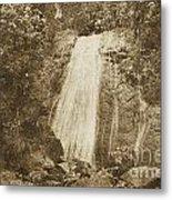 La Coca Falls El Yunque National Rainforest Puerto Rico Print Vintage Metal Print