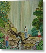 La Coco Falls El Yunque Rain Forest Puerto Rico Metal Print