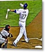 La Dodgers Matt Kemp Metal Print