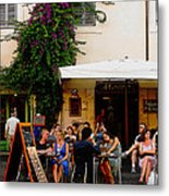 La Dolce Vita At A Cafe In Italy Metal Print