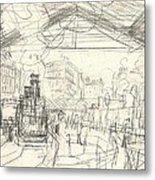 La Gare Saint Lazare Metal Print