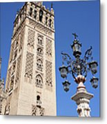 La Giralda Cathedral Tower In Seville Metal Print
