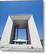 La Grande Arch In La Defense Business District Paris France Metal Print