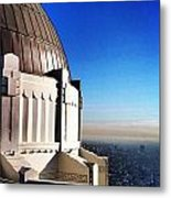 La Griffith Observatory Afternoon Metal Print