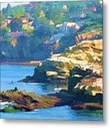 La Jolla California Cove And Caves Metal Print