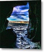 La Jolla Cave By Diana Sainz Metal Print