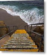 La Jolla Stairs 2 Metal Print