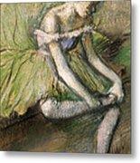 La Jupe Verte Metal Print by Edgar Degas