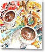 La Laguna Churros Y Chocolate Metal Print