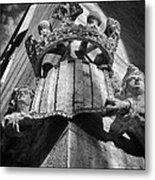 La Lonja Angels Black And White Metal Print