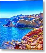 La Manga Seaside In Spain Metal Print
