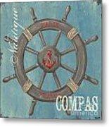 La Mer Compas Metal Print
