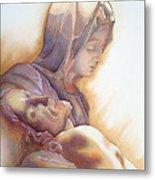 La Pieta By Michelangelo Metal Print