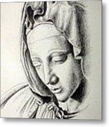 La Pieta Madonna Metal Print by Heather Calderon