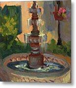 La Quinta Resort Fountain Metal Print