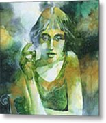La ragazza che fumava gauloises Metal Print