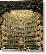 La Scala, Milan, During A Performance Metal Print