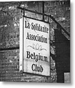 La Solidarite Association Belgium Club Metal Print
