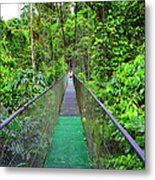 La Tirimbina Suspension Bridge Metal Print