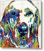 Labrador Retriever Art - Play With Me - By Sharon Cummings Metal Print