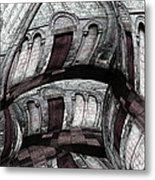 Labyrinth With Brown Doors Metal Print