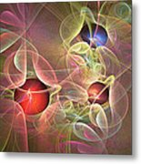 Lace And Pearls Metal Print