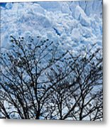 Lace On Blue Metal Print