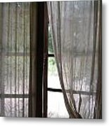 Lace Window Covering. Metal Print