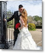 Lacey And Adam Wedding 1 Metal Print