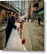 Lacey And Adam Wedding 2 Metal Print
