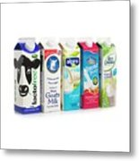 Lactose Free Milk And Dairy Substitutes Metal Print