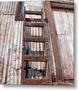 Ladder 1 Metal Print by Minnie Lippiatt