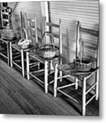 Ladder Back Chairs And Baskets Metal Print by Lynn Palmer