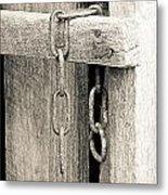 Ladder Chain Bw Metal Print