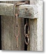 Ladder Chain Color Metal Print