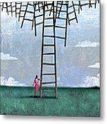 Ladder Cluster Metal Print