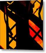 Ladderback Flamenco Metal Print