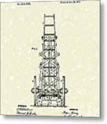 Ladders 1874 Patent Art Metal Print