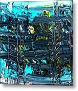 Ladders Under The Sea I Metal Print