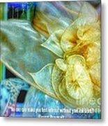 Ladies Bonnet Quote  Metal Print