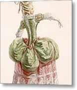 Ladies Evening Gown, Engraved By Dupin Metal Print