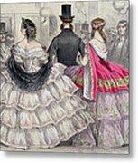 Ladies Wearing Crinolines At The Royal Italian Opera Metal Print